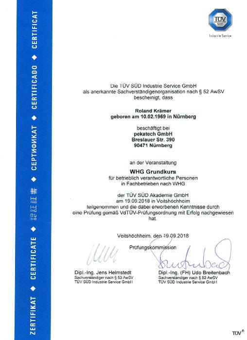 Lissi Gebhardt Entsorgungsfachbetrieb Industrieservice Umweltschutz Nürnberg Zertifikat Zertifikate TÜV