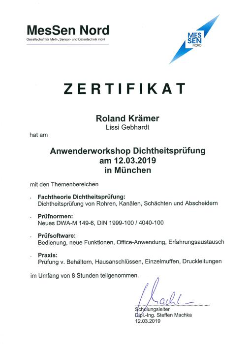 Lissi Gebhardt Entsorgungsfachbetrieb Industrieservice Umweltschutz Nürnberg Zertifikat Zertifikate Messen-Nord